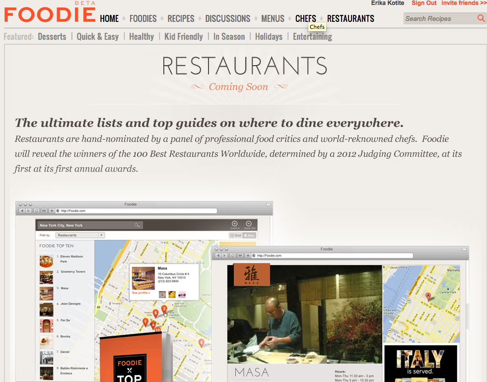 Glam Launches Foodie, a Social Media Site for Food Lovers