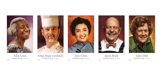Why Five Celebrity Chefs Are on Postage Stamps